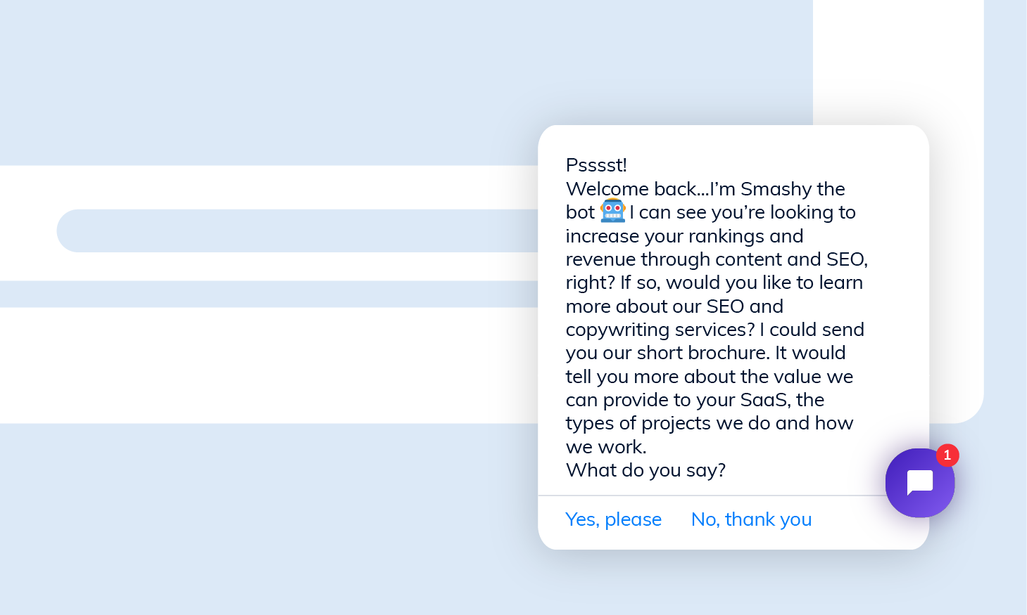 Tidio choice-based chatbot