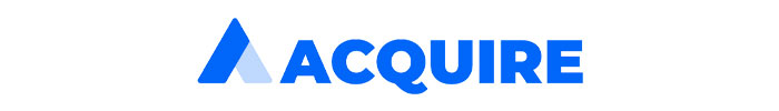 The official logo of Acquire live chat app.