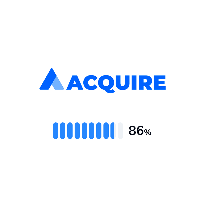 The logo and rating of Acquire.io