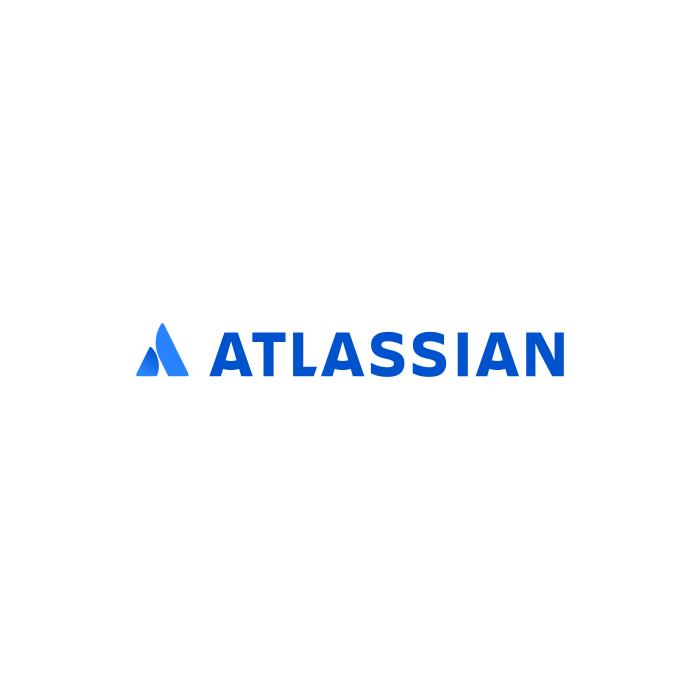 The logo of Atlassian