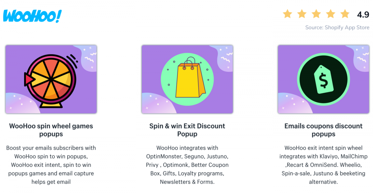Screenshot of Sping Wheel Popup app on Shopify Store