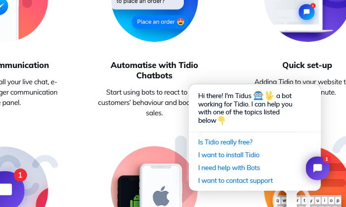 Tidio FAQ chatbot