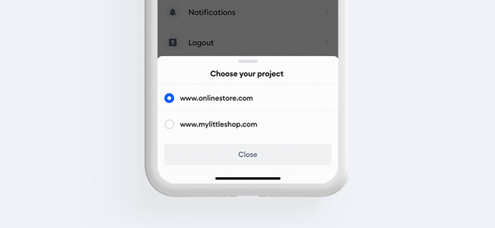 Project Selection Tidio App