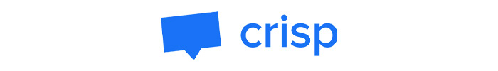 The official logo of Crisp live chat app.