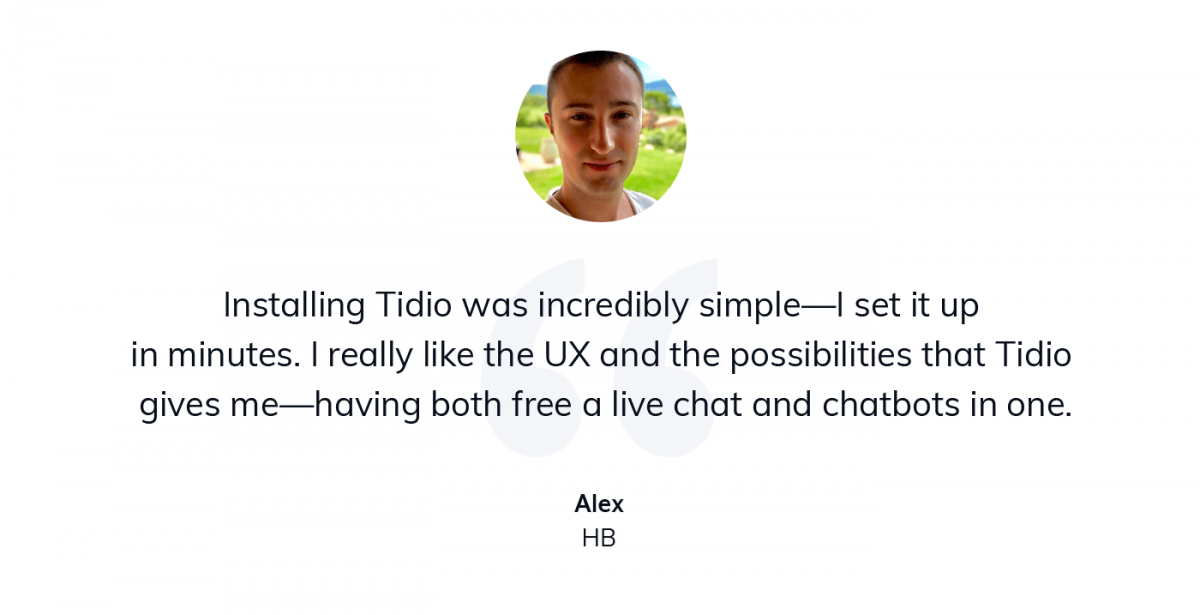 Hight ticket dropshipping business owners shares his thoughts on using Tidio