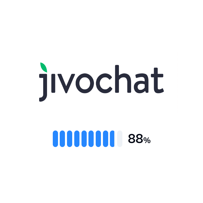 The logo and rating of JivoChat