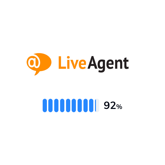 The logo and rating of LiveAgent