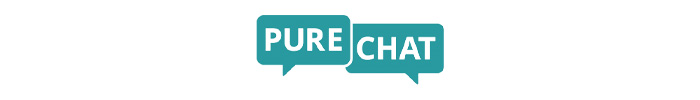The official logo of PureChat live chat app.