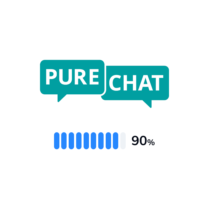 The logo and rating of Pure Chat
