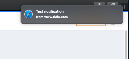 test notification Safari