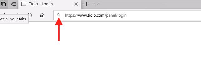 padlock icon Microsoft Edge