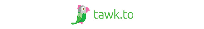 The official logo of Tawk.to live chat app.