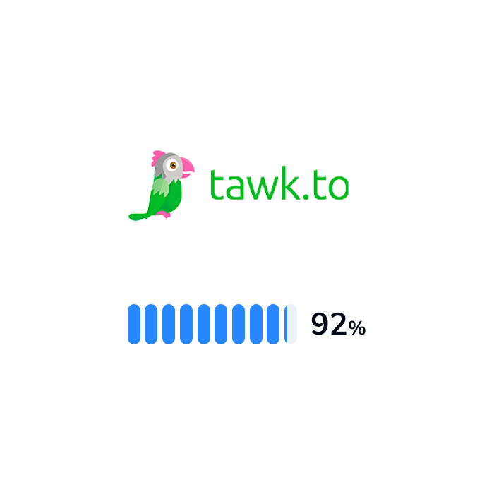 The logo and rating of Tawk.to