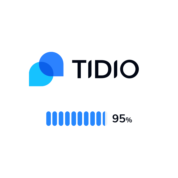 The logo and rating of Tidio Live Chat
