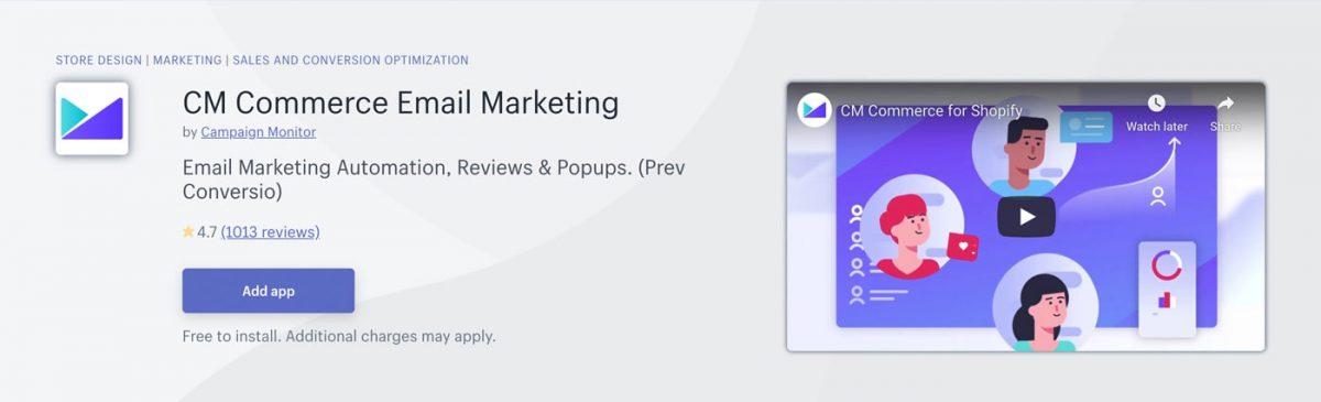 CM in Shopify App Store
