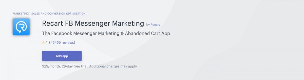 Recart in Shopify App Store