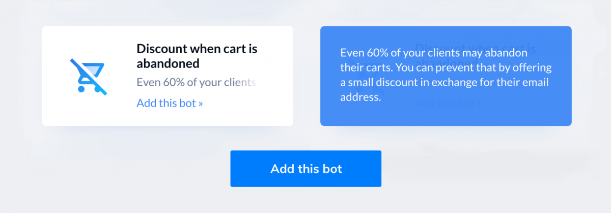 Giving discounts with chatbots is a good marketing tactic