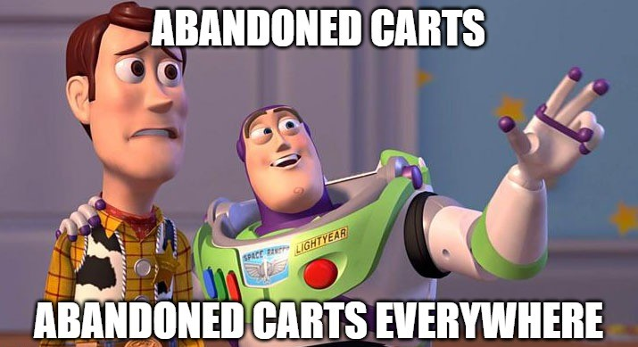 abandoned cart everywhere meme