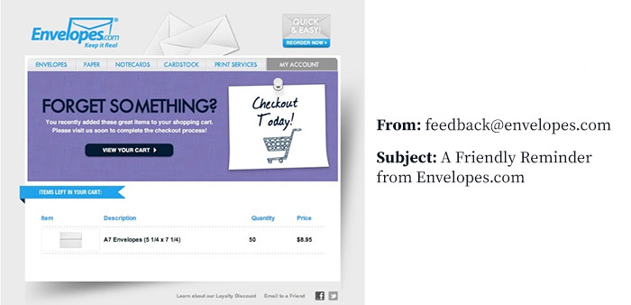 Marketing email example 2