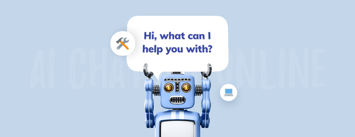 AI chatbot cover art