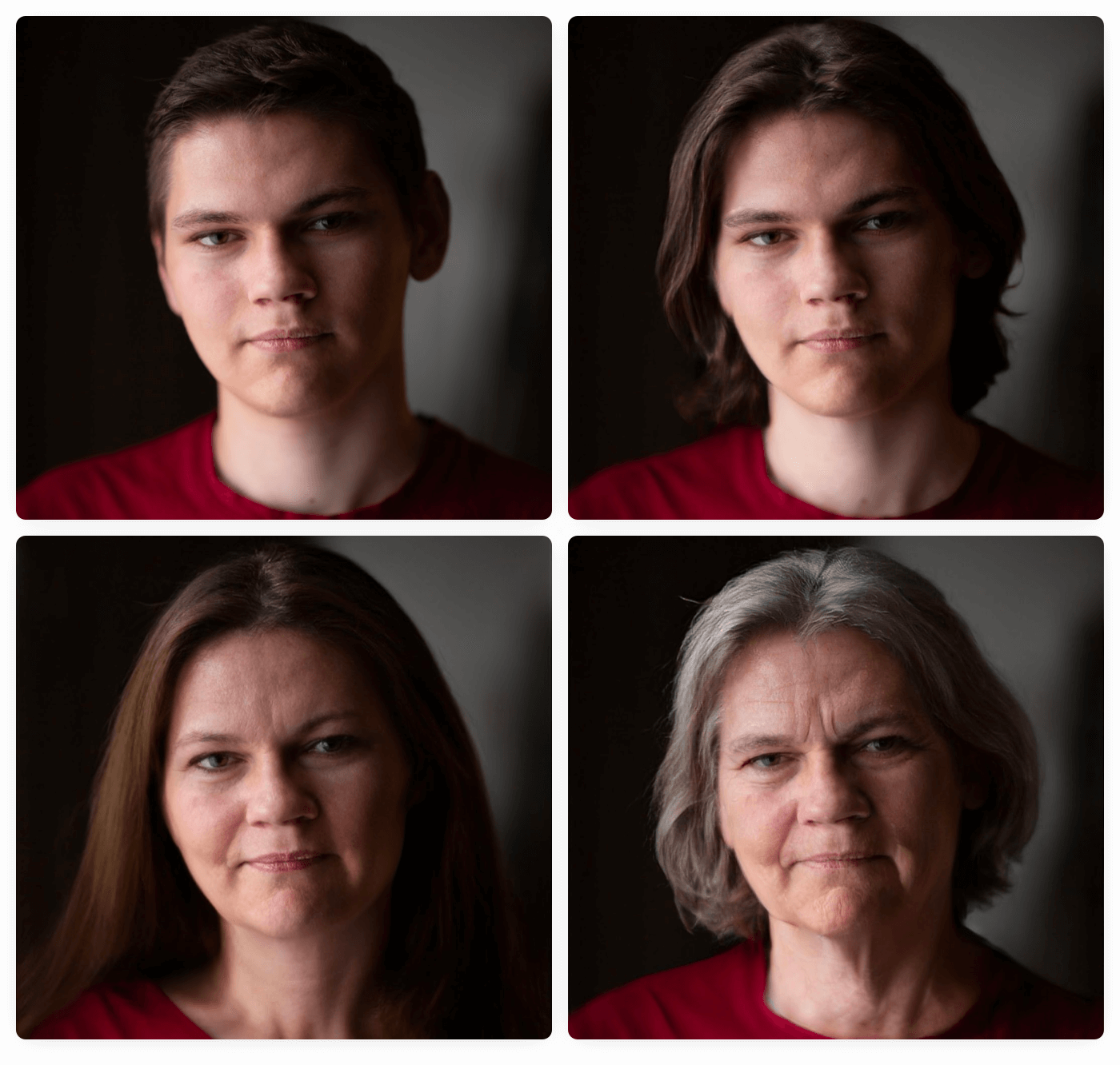 Some photos manipulated with FaceApp