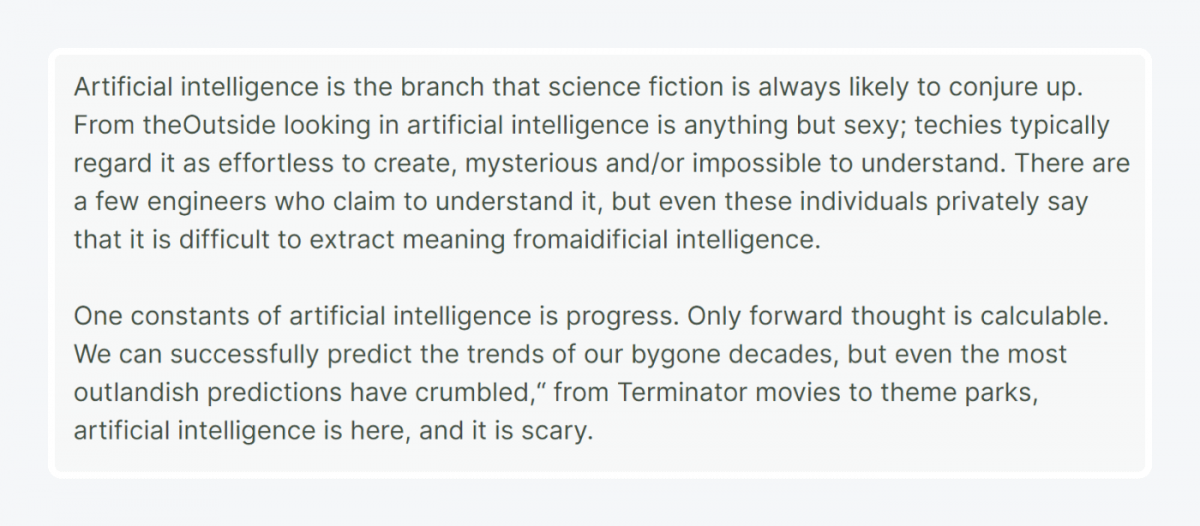 A citation of an AI journalist summing up this study