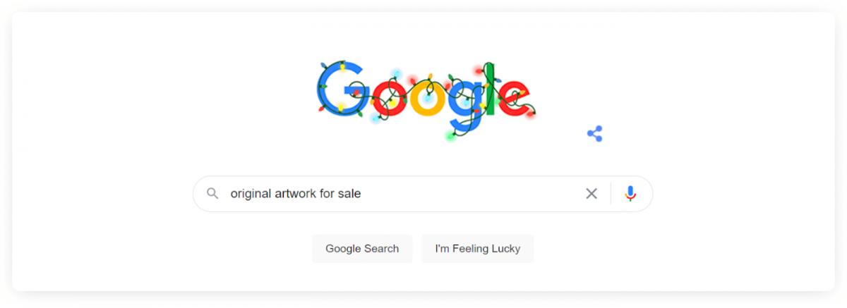 A Google search result for original artwork for sale