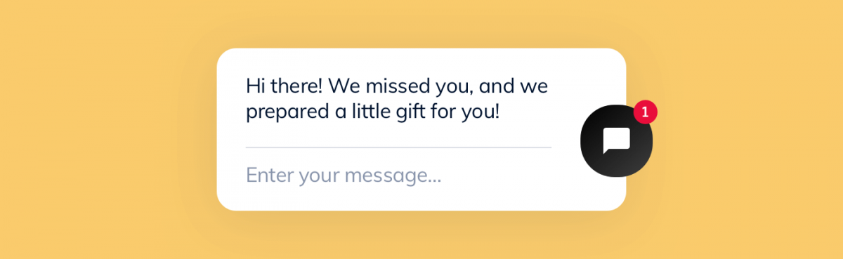 A personalized message from a chatbot