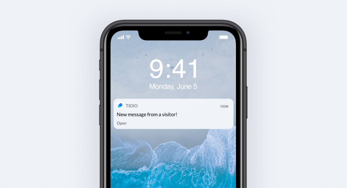 An example of push notifications in action