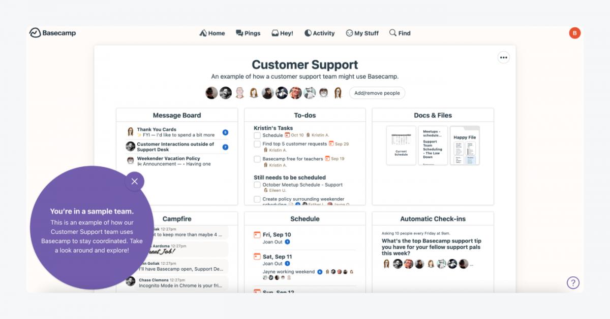 Basecamp's Customer Support