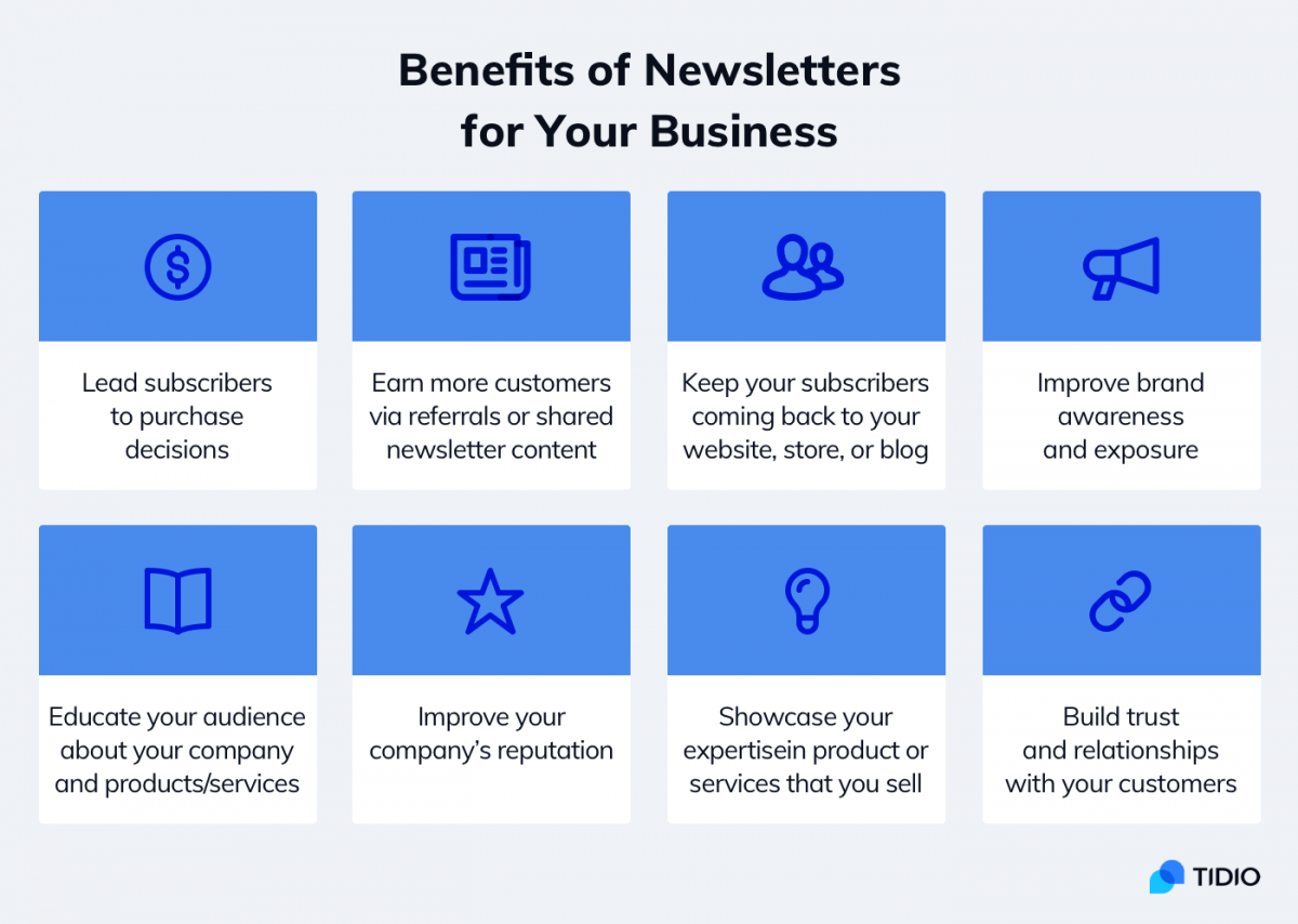 benefits of creating a newsletter