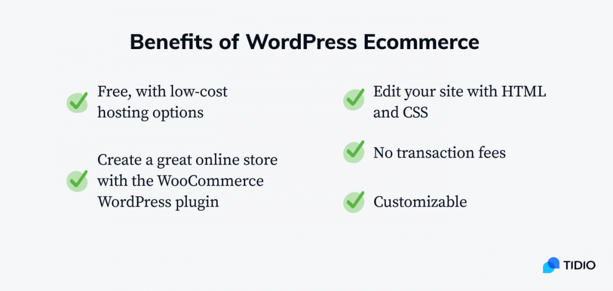 The benefits of WordPress eCommerce infographic
