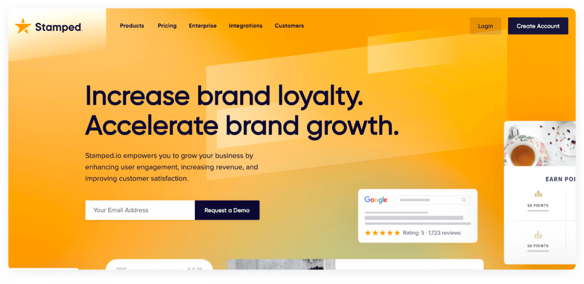 Homepage of Stamped