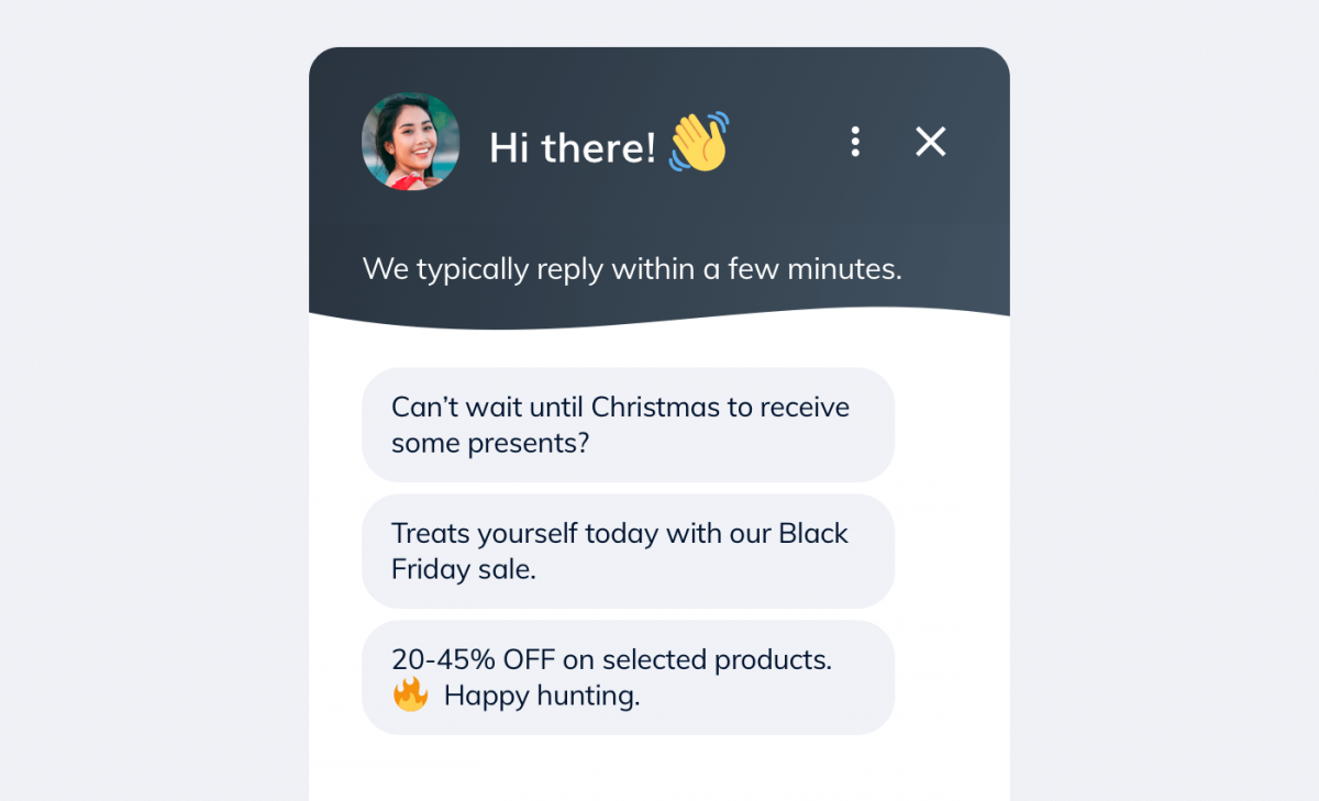 Another Black Friday message about a discount