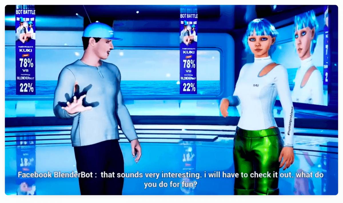 Facebook chatbot vs Kuki chatbot during Bot Battle 2020