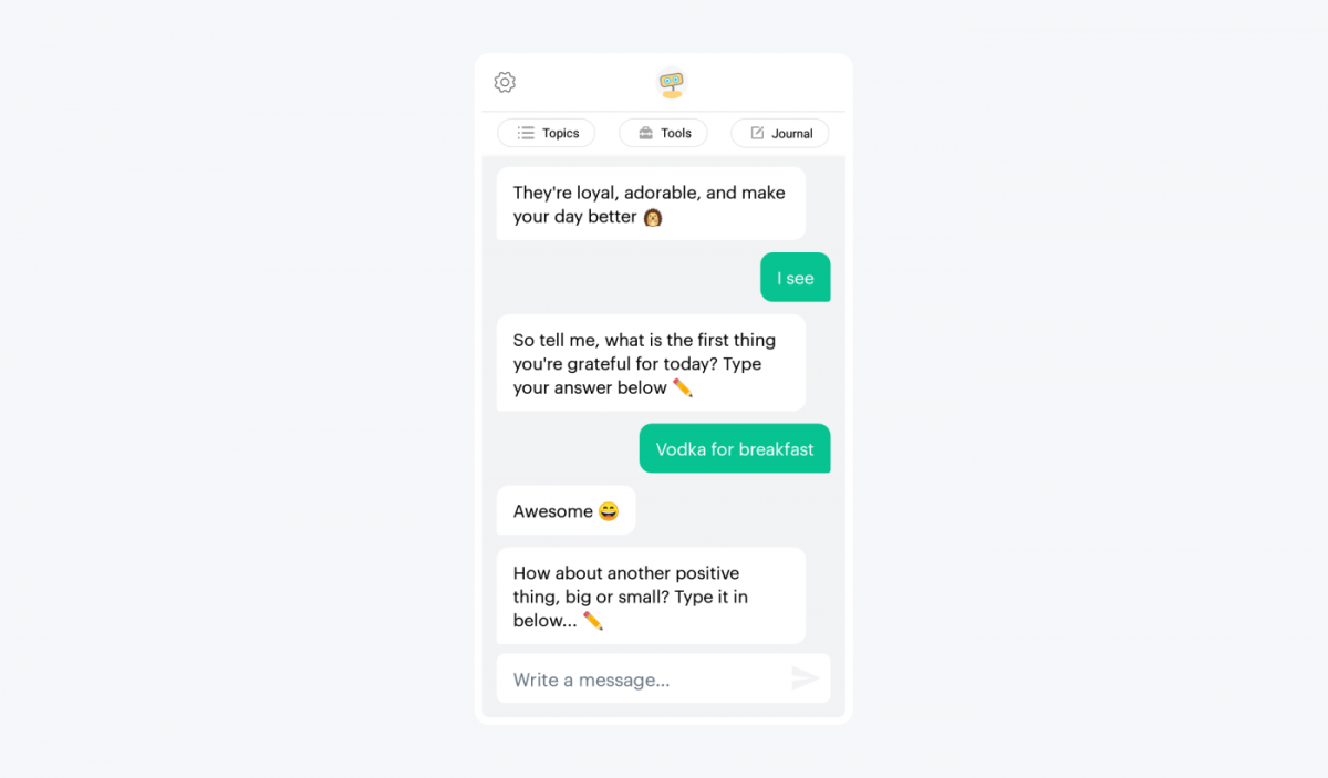 Poor chatbot design example
