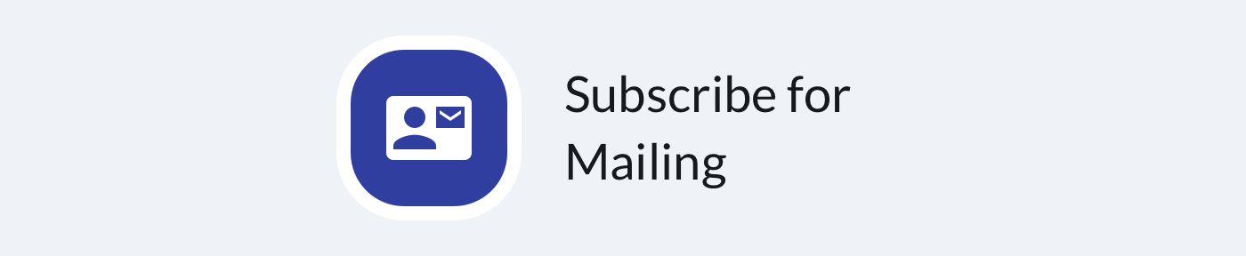 A subscribe for mailing button used in Tidio editor