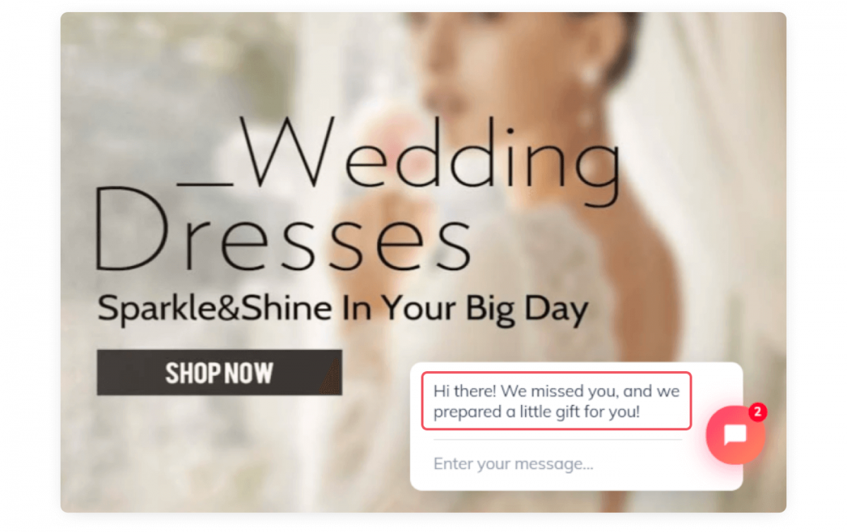 Homepage of an online store that welcomes returning customers