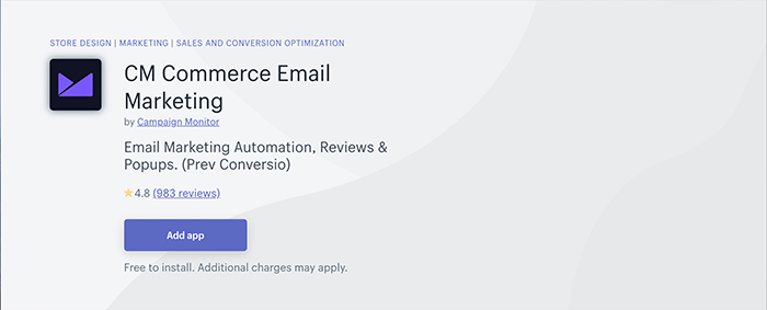 CM Commerce Email Marketing - shopify app