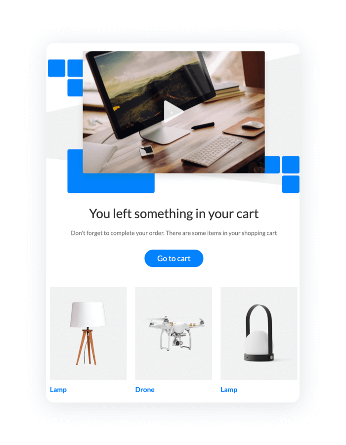 An email automation for abandoned shopping carts