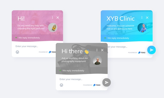 chat box widget personalization