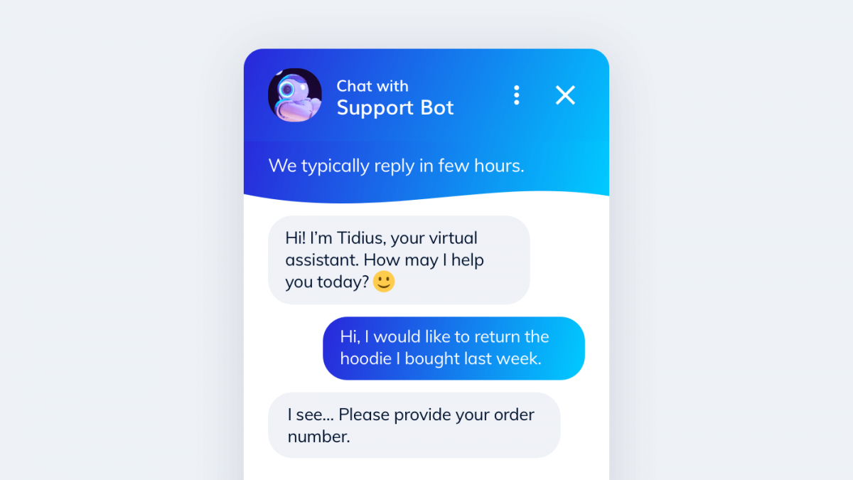 An automatic marketing workflow with a chatbot