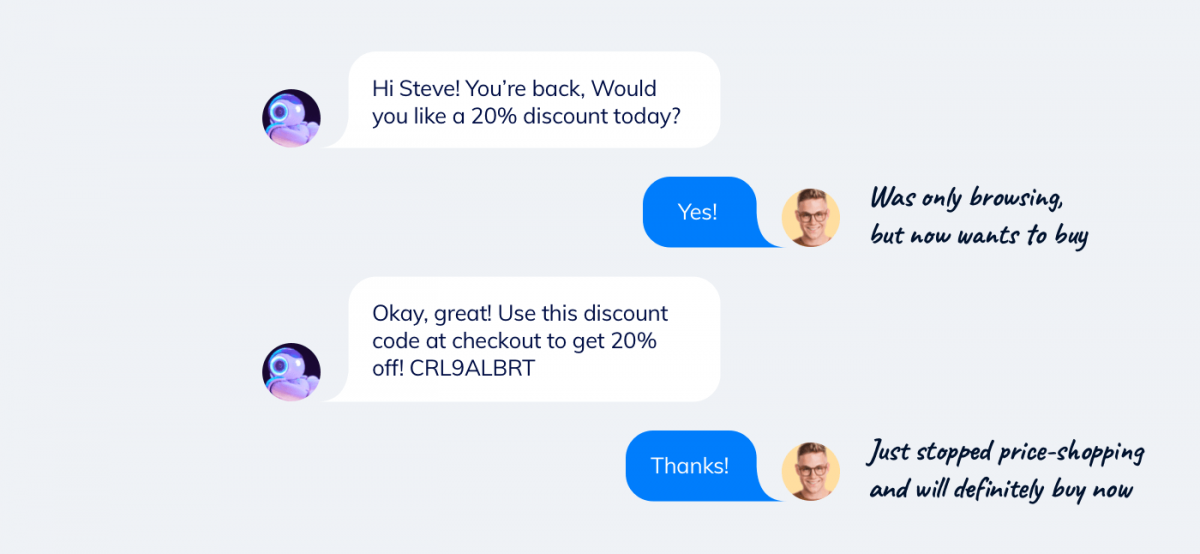 Ecommerce chatbot conversation examples