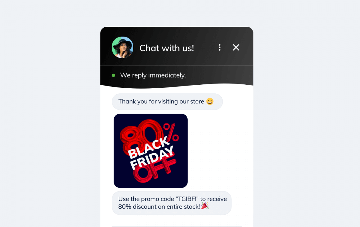 A Black Friday notification