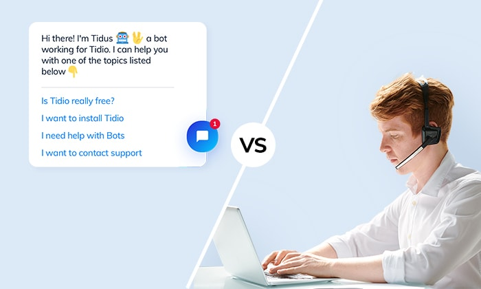 Live chat vs Chatbots