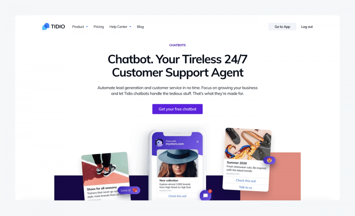 A landing page with a CTA button