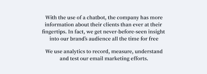 A quote about marketing chatbots