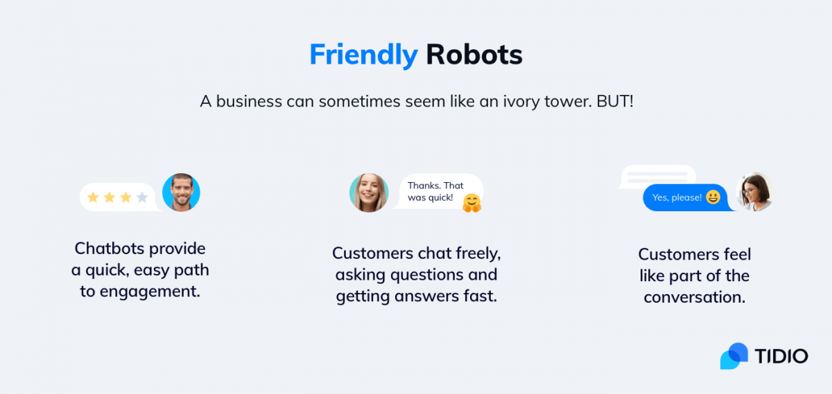 an infograpgic presenting key chatbot benefits