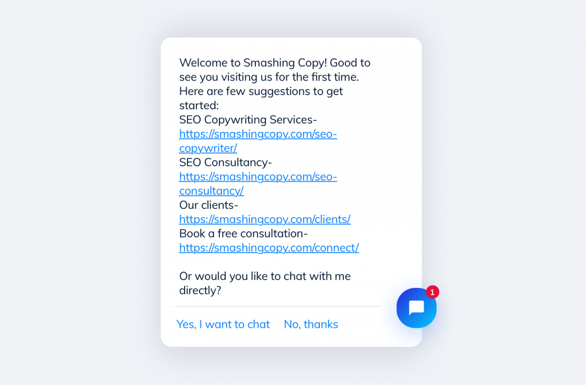 Chatbots helps with getting started