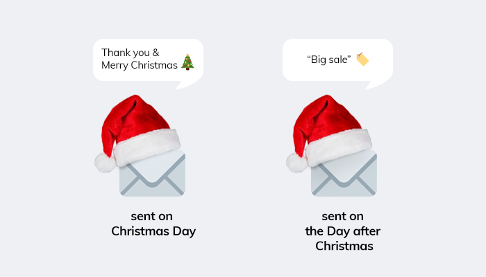 Christmas text examples